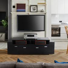furniture of america peyton modern tiered 60 inch tv stand with french entry doors modern oliver james tribolo 70 inch espresso