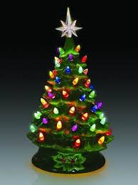 Ceramic Tabletop Christmas Tree With Lights Enchanting Lighted Tabletop Ceramic Christmas Tree With Multicolor Bulbs Item