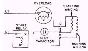 wiring diagram for capacitor Start Capacitor Wiring Diagram single phase hermetic motors start run capacitor wiring diagram