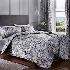 maduri ornamental paisley duvet cover set black hover to zoom