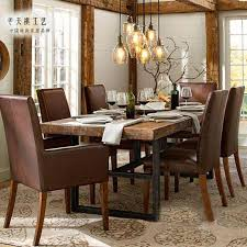 american country to do the old vintage wrought iron wood dining table dining table solid wood furniture can be customized famil with 668 92 piece