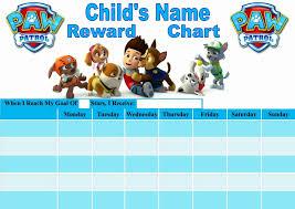 Potty Training Chart Printable Paw Patrol Paw Patrol Behavior Chart Free Www Bedowntowndaytona Com