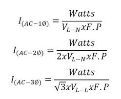 Calculator Of Watts To Amps With Formula And Examples