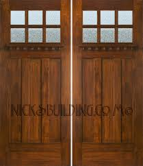 mission style front doorCraftsman style double doors