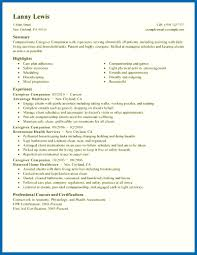 Resume Examples For Caregivers Resume Examples For Caregiver Skills Caregivers Companions Wellness 39