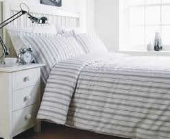 grey stripe single duvet cover set co uk kitchen home