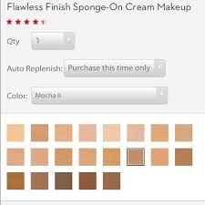 Elizabeth Arden Foundation Color Chart Elizabeth Arden Flawless Finish Cream Foundation With A