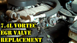 How to Change EGR Valve on 7.4L Vortec Chevy Engine - YouTube