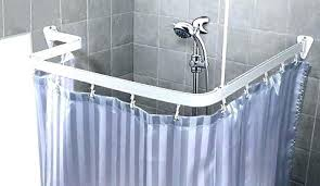 corner shower curtain rod track style corner shower curtain rod custom shaped bendable shower curtain rod