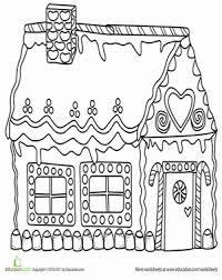 gingerbread house coloring sheet gingerbread house worksheet education com