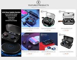 Samload Business <b>Bluetooth</b> 5.0 Headphones IPX7 Touch Control ...