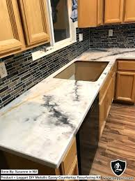 metallic countertop best metallic resurfacing kits resurfacing kitchen tile s installing metallic countertop kit with my hands