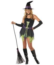 Costume halloween teen witch
