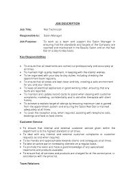 Resume For Nail Technicians Sales Technician Lewesmr