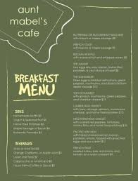Menu Of Breakfast Template Archive
