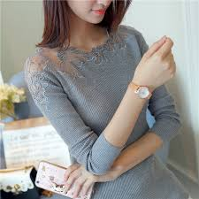 <b>Women Pullovers 2017</b> Cashmere Sexy Lace <b>Pullover Sweaters</b> ...