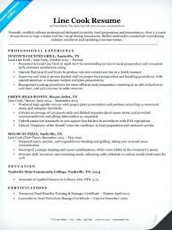 Line Cook Resume Template Sample For A Prep Customer Service Retail
