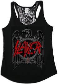 Slayer Eagle Logo Women's T-shirt   Black Tank Top in 2019