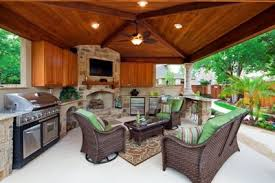 covered outdoor kitchens with fireplace. Perfect With Covered Outdoor Kitchens  And This Covered Porch In Austin With An Outdoor  Kitchen Fireplace  In Fireplace O