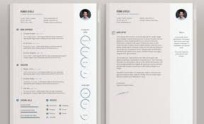 Minimalist Resume Template 5 Minimal For Word 1 2 Page Cv Icon Set