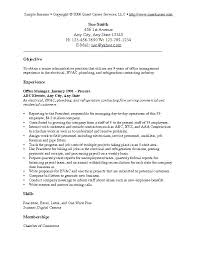 Sample Of An Objective In A Resume Profession Goal Resume Examples