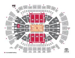 Toyota Center Interactive Seating Chart Houston Rockets Seating Chart Clutchfans