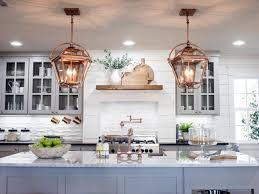 Fixer Upper Light Pendants Contemporary Kitchen With Copper Pendant Lights Hgtv