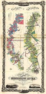 Lower Mississippi River Charts Map Poster Normans Chart Of The Lower Mississippi River 24 X 12 5