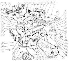 Interior car parts diagram