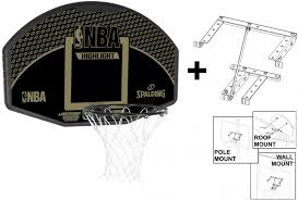 spalding nba highlight fan shaped backboard and ring and mounting bracket