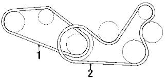 com acirc reg mitsubishi diamante belts pulleys oem parts 1998 mitsubishi diamante es v6 3 5 liter gas belts pulleys