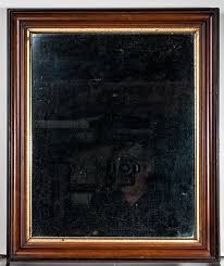walnut low profile piece with gilded liner ca 1870 it is 13 3 4 inches x 17 3 4 inches od and has a 12 x 16 inch image 16 412