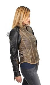 harley davidson womens capitol winged b s vintage brown leather jacket tap to expand