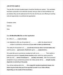 Offer Letter Template In Professional Job Format Naveshop Co