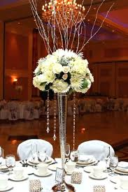 chandelier vase crystal chandeliers wedding centerpieces all white flowers on top of chic vase with crystal chandelier silver diy chandelier vase chandelier