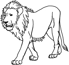 Drawing Coloring Page Of A Lion 98 In For Kids with Coloring Page ...