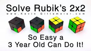 How To Solve 2x2 Rubiks Cube So Easy A 3 Year Old Can Do