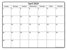 april calendar april 2018 calendar april 2018 calendar printable