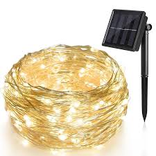 1pcs <b>10m</b> 100leds solar indoor LED copper string lights <b>outdoor</b> ...