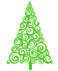 Christmas Tree Die Cut Vinyl Decal PV947Christmas Tree Decals