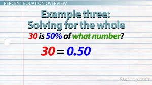 percent equation definition example lesson transcript study com