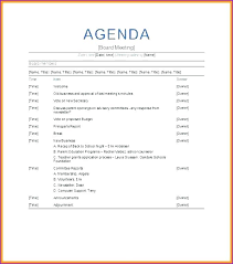Sample Conference Agenda Template Parent Teacher Board Meeting Best