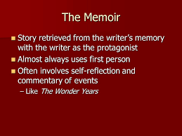 introduction to creative nonfiction the memoir the narrative  2 the memoir story