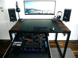 computer built in desk the best into ideas on custom power