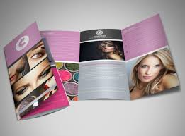 make tri fold brochure professional makeup artist brochure template mycreativeshop