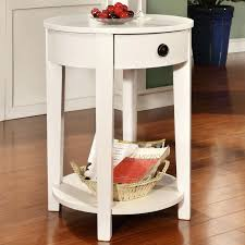 white round side table small white side table round