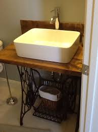 vessel sink base.  Base Singer Sewing Machine Base Repurposed Into Bathroom Vanity With Vessel Sink And Vessel Sink Base P