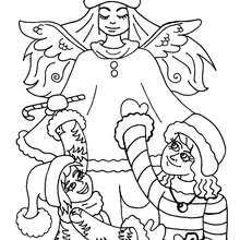 christmas angels coloring pages    xmas online coloring books    the archangel angel   kids coloring page   coloring page   holiday coloring pages   christmas coloring pages