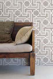 moroccan key stencil geometric