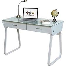 amazing glass desk with drawers on com onespace ultramodern computer amazing home alluring glass desk with drawers on white hanging lacquered cool